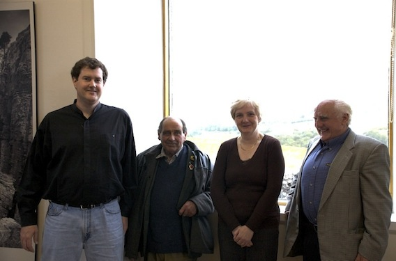 Bruce Henderson, John Angus, Margaret Irvine and Remmy Henderson