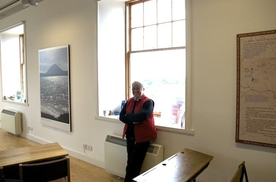 Nan Bethune at the Dunbeath Heritage Centre